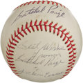 Autographs:Baseballs, 1978 Satchel Paige Double Signed Baseball. If there is any Hall of Fame player we might expect to produce such a wonderfull...