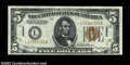 Small Size:World War II Emergency Notes, Fr. 2301 $5 1934 Hawaii Mule Federal Reserve Note. Gem Crisp ...