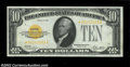 Small Size:Gold Certificates, Fr. 2400* $10 1928 Gold Certificate. CGA Choice Uncirculated ...