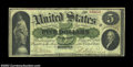 Large Size:Demand Notes, Fr. 3 $5 1861 Demand Note Fine. A solid Boston Demand ...