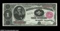 Large Size:Treasury Notes, Fr. 350 $1 1891 Treasury Note Superb Gem New. This Stanton ...