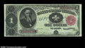 Large Size:Treasury Notes, Fr. 352 $1 1891 Treasury Note Superb Gem New. This richly ...