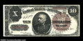 Large Size:Treasury Notes, Fr. 366 $10 1890 Treasury Note Choice Very Fine. An ...