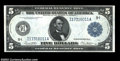 Fr. 879a $5 1914 Federal Reserve Note Choice New. This Minneapolis note has a nice appearance, but the paper surfaces ar...