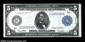 Fr. 879a $5 1914 Federal Reserve Note Choice New. A solid example of a Minneapolis District Five