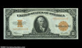 Large Size:Gold Certificates, Fr. 1173 $10 1922 Gold Certificate Gem New. Good paper ...