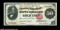 Large Size:Gold Certificates, Fr. 1193 $50 1882 Gold Certificate Choice Extremely Fine. ...