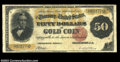 Large Size:Gold Certificates, Fr. 1197 $50 1882 Gold Certificate Fine. Well margined and ...