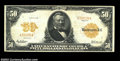 Large Size:Gold Certificates, Fr. 1198 $50 1913 Gold Certificate Fine-Very Fine. The ...