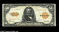 Large Size:Gold Certificates, Fr. 1200 $50 1922 Gold Certificate Very Fine. Bright and ...