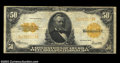 Large Size:Gold Certificates, Fr. 1200 $50 1922 Gold Certificate Fine. A solid, problem-...