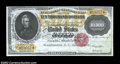 Large Size:Gold Certificates, Fr. 1225 $10,000 1900 Gold Certificate Gem New. A fully ...