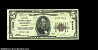 McGehee, AR - $5 1929 Ty. 1 The First NB Ch. # 13280 A very scarce small size note, with only five such examples record...