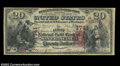 San Francisco, CA- $20 1875 National Gold Bank Note Fr. 1153 The First National Gold Bank Ch. # 1741 White Paper A grea...