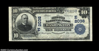 Washington, D.C. - $10 1902 Plain Back Fr. 628 The Second NB Ch. # (E)2038 From one of the 27 federally chartered banks...
