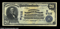 Washington, DC - $20 1902 Plain Back Fr. 650 The American NB Ch. # (E)6716 A handsome example from this better District...