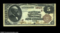 National Bank Notes:Maine, Wiscasset, ME - $5 1882 Brown Back Fr. 469 The First NB...