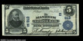 National Bank Notes:Pennsylvania, Manheim, PA - $5 1902 Plain Back Fr. 598 Manheim NB Ch....