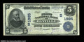 National Bank Notes:Virginia, Danville, VA - $5 1902 Date Back Fr. 594 The First NB ...