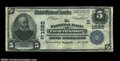 National Bank Notes:Virginia, Fredericksburg, VA - $5 1902 Plain Back Fr. 599 The NB ...