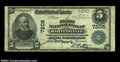 National Bank Notes:Virginia, Martinsville, VA - $5 1902 Plain Back Fr. 598 The First ...