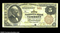 National Bank Notes:West Virginia, Fairmont, WV - $5 1882 Brown Back Fr. 467 The First NB ...