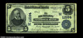 National Bank Notes:Wisconsin, Hurley, WI - $5 1902 Plain Back Fr. 607 The Hurley NB ...