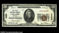 National Bank Notes:Wyoming, Laramie, WY - $20 1929 Ty. 1 The First NB Ch. # 4989...