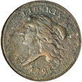 1793 1/2 C --Corroded, Whizzed--ANACS. VF30 Details