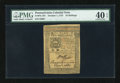 Colonial Notes:Pennsylvania, Pennsylvania October 1, 1773 10s PMG Extremely Fine 40 EPQ....