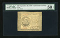 Colonial Notes:Continental Congress Issues, Continental Currency September 26, 1778 $50 PMG About Uncirculated50 EPQ....