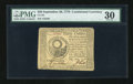 Colonial Notes:Continental Congress Issues, Continental Currency September 26, 1778 $30 PMG Very Fine 30....