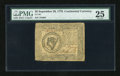 Colonial Notes:Continental Congress Issues, Continental Currency September 26, 1778 $8 PMG Very Fine 25....