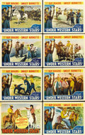 "Movie Posters:Western, Under Western Stars (Republic, 1938). Lobby Card Set of 8 (11"" X14"").... (Total: 8 Items)"