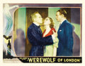 "Movie Posters:Horror, Werewolf of London (Universal, 1935). Autographed Lobby Card (11"" X14"")...."