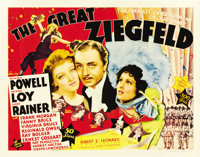 """The Great Ziegfeld (MGM, 1936). Title Lobby Card and Scene Card (11"""" X 14"""").... (Total: 2 Items)"""