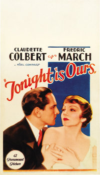 "Tonight is Ours (Paramount, 1933). Midget Window Card (8"" X 14"")"