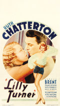 "Movie Posters:Drama, Lilly Turner (Warner Brothers, 1933). Midget Window Card (8"" X14"")...."