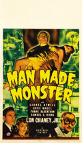 "Movie Posters:Horror, Man Made Monster (Universal, 1941). Midget Window Card (8"" X14"")...."