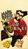 "Movie Posters:Comedy, A Day At The Races (MGM, 1937). Midget Window Card (8"" X 14"")...."