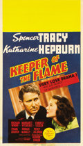 "Movie Posters:Drama, Keeper of the Flame (MGM, 1942). Midget Window Card (8"" X 14"")...."