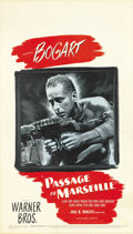 "Movie Posters:War, Passage to Marseille (Warner Brothers, 1944). Midget Window Card(8"" X 14"")...."
