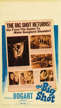 "The Big Shot (Warner Brothers, 1942). Midget Window Card (8"" X 14"")"