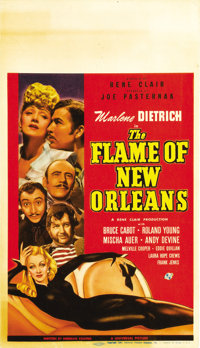 "The Flame of New Orleans (Universal, 1941). Midget Window Card (8"" X 14"")"
