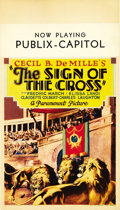 "Movie Posters:Drama, The Sign of the Cross (Paramount, 1932). Midget Window Card (8"" X14"")...."