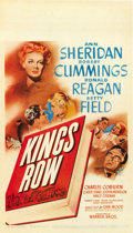 "Movie Posters:Drama, Kings Row (Warner Brothers, 1942). Midget Window Card (8"" X14"")...."