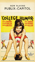 "Movie Posters:Comedy, College Humor (Paramount, 1933). Midget Window Card (8"" X 14"")...."