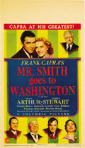 "Movie Posters:Drama, Mr. Smith Goes To Washington (Columbia, 1939). Midget Window Card(8"" X 14"")...."