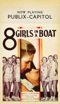 "Movie Posters:Drama, 8 Girls in a Boat (Paramount, 1934). Midget Window Card (8"" X14"")...."