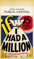 "Movie Posters:Comedy, If I Had a Million (Paramount, 1932). Midget Window Card (8"" X14"")...."